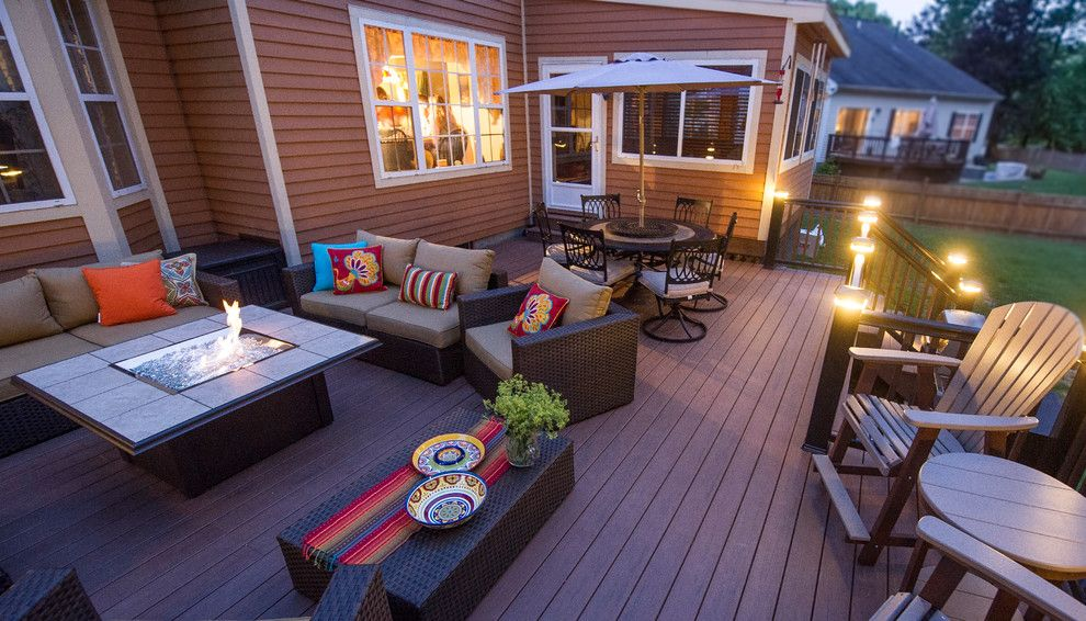 Acadian Style Homes for a Contemporary Deck with a Wicker Furnature and Patios and Decks by Razzano Homes and Remodelers, Inc.