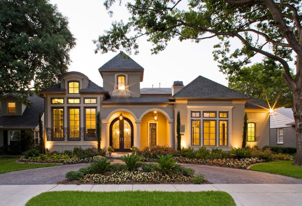 Acadian Style Homes for a Mediterranean Exterior with a Entry and Amherst Exterior by Veranda Fine Homes