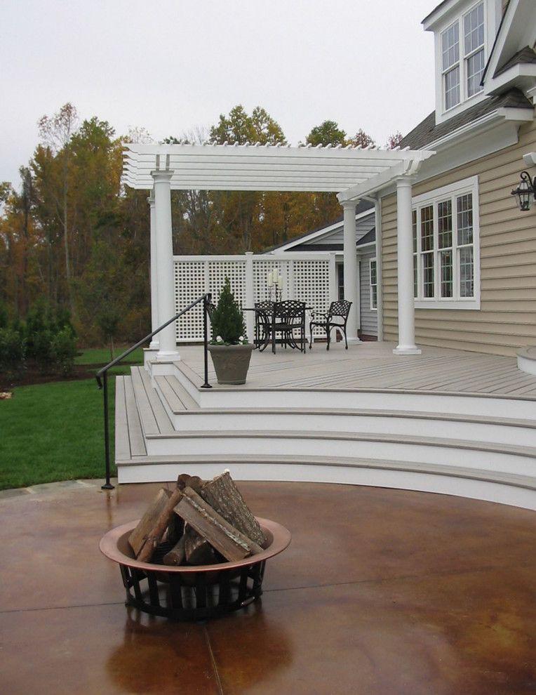 Acid Wash Concrete for a Traditional Landscape with a Traditional and Traditional Landscape by Harmonydesignnw.com