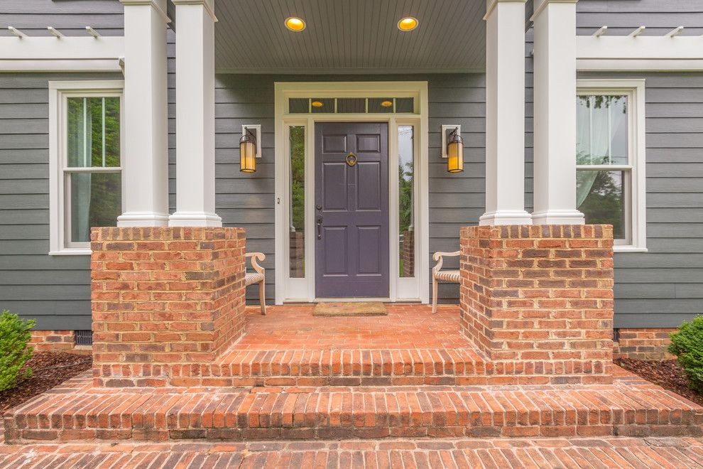 Acme Brick Colors for a Traditional Entry with a Side Lights and Siding Replacement Projects by Chattanooga Exteriors
