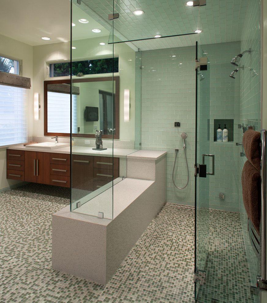 Ada Bathroom Layout for a Contemporary Bathroom with a High and Bathroom Remodel by Charco Design & Build Inc.