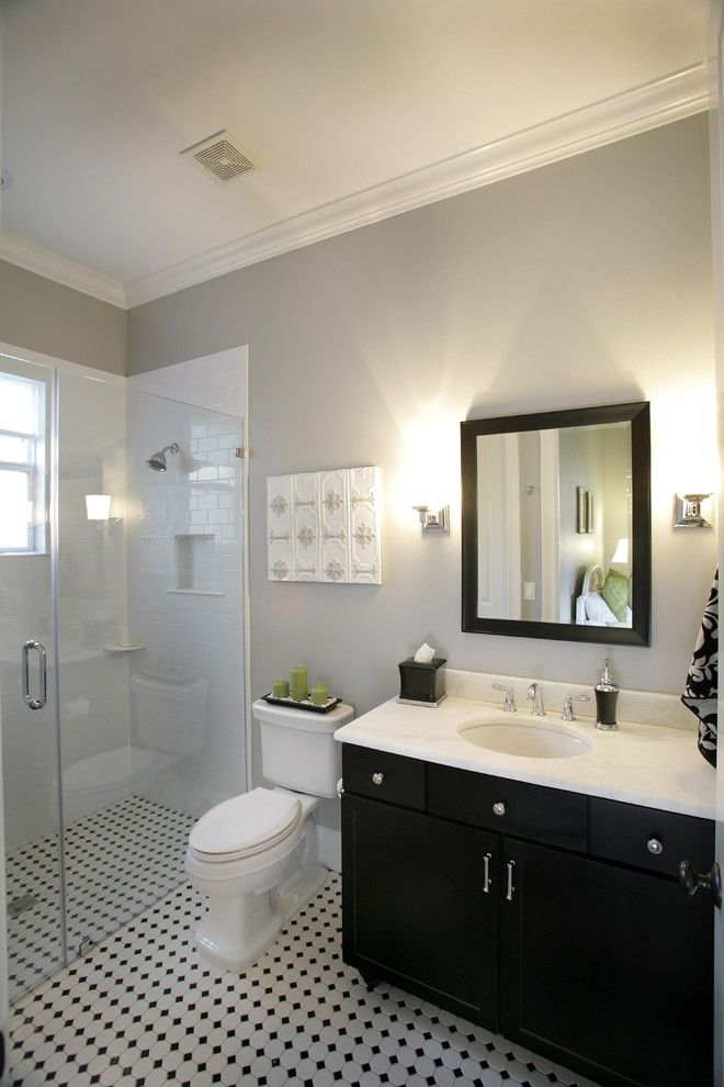 Ada Bathroom Layout for a Contemporary Bathroom with a Subway Tile and Custom Home in South Tampa by Devonshire Custom Homes
