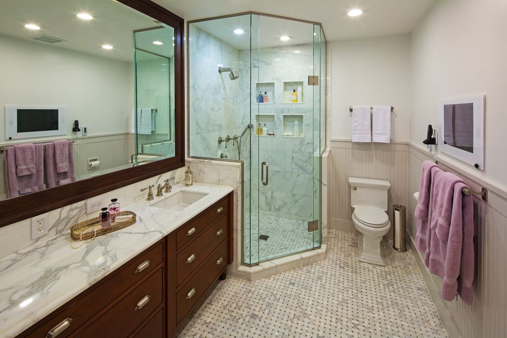 Ada Bathroom Layout for a Traditional Bathroom with a Vanity and President's Residence   Northwestern University by Thea Home Inc