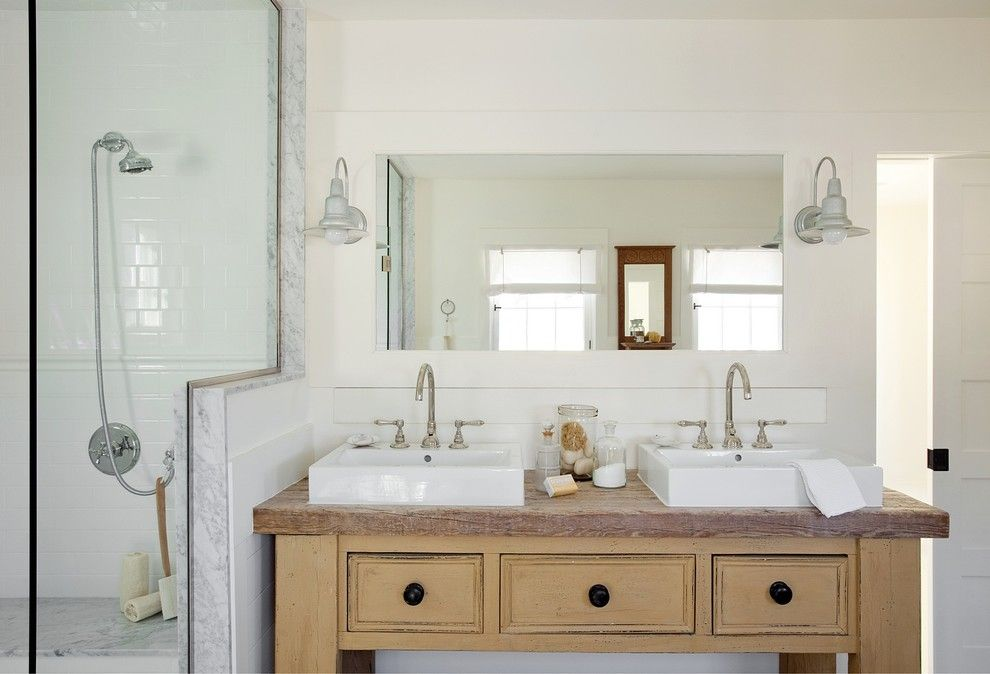 Ada Sink Height for a Beach Style Bathroom with a Beach Style and Concord Green Home by Zeroenergy Design