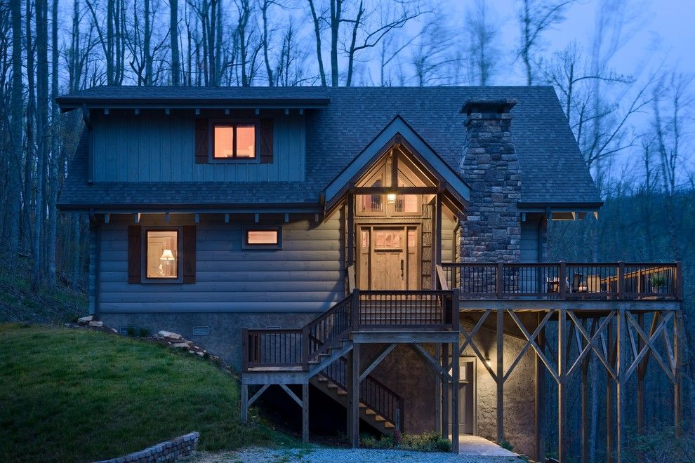 Adair Homes for a Rustic Exterior with a North Carolina and Adair by Log Homes of America