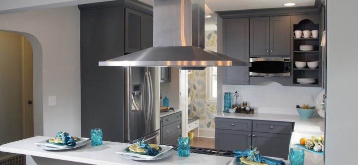 Adair Homes for a Transitional Kitchen with a Subway Tile and Kitchen Fun with Storm Gray by Dura Supreme Cabinetry