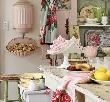Agl Homes for a Shabby-Chic Style Spaces with a Shabby Chic Style and Seasons for All at Home: Decorating a Cottage in Pink and Green by Rita May