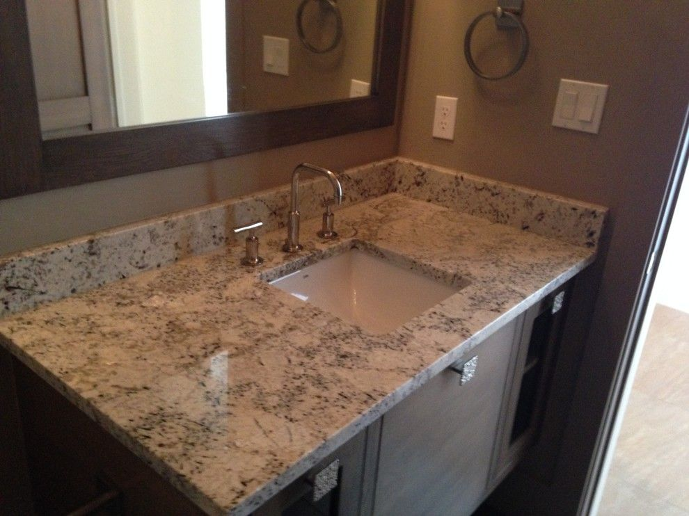 Agm Granite for a Contemporary Bathroom with a Granite Countertop and Spanish Oaks Houses by Heyl Homes by Ag&m (Architectural Granite & Marble)