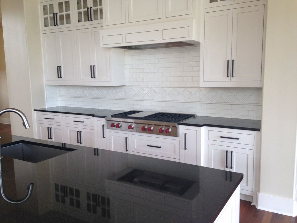 Agm Granite for a Traditional Kitchen with a Indian Absolute Black Granite and Spanish Oaks Houses by Heyl Homes by Ag&m (Architectural Granite & Marble)