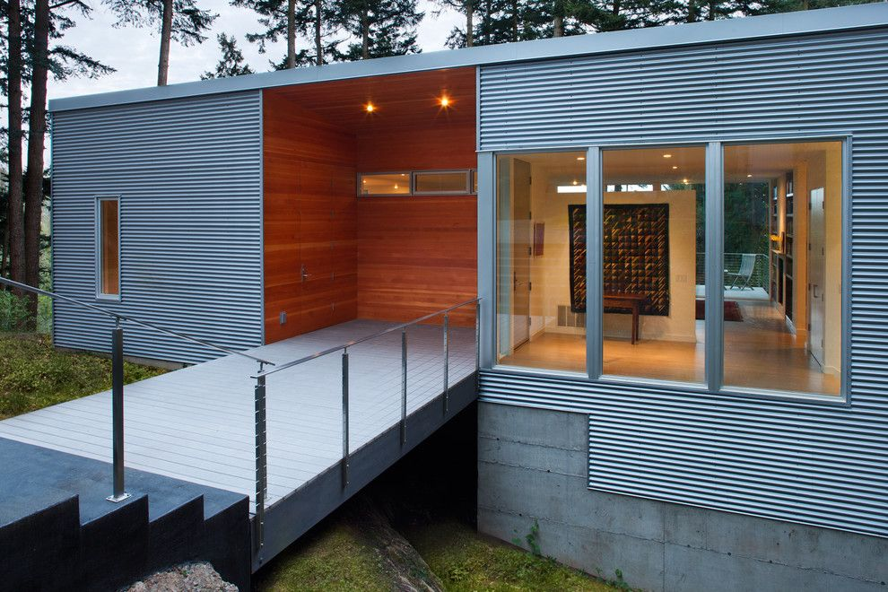 Ags Stainless for a Contemporary Entry with a Metal Siding and Best Rd   Exterior Entry at Wood Box Detail by Studio Sarah Willmer Architecture