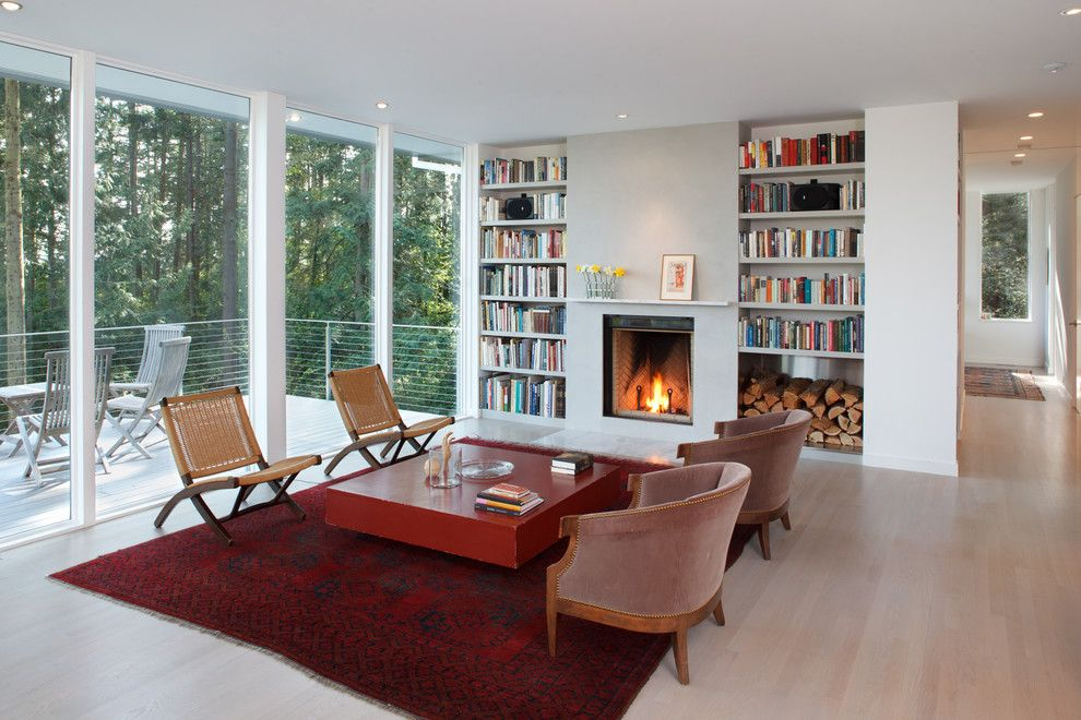 Ags Stainless for a Contemporary Living Room with a Fireplace Mantel and Best Rd   Living Room Fireplace Wall by Studio Sarah Willmer Architecture