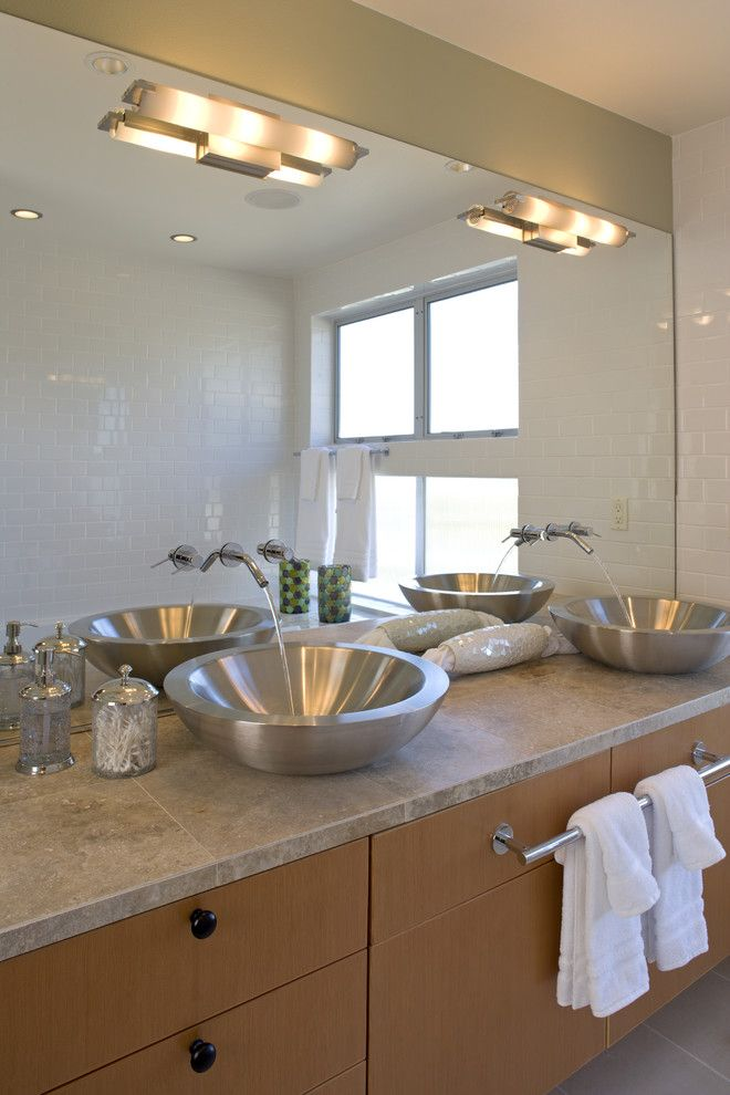 Aia Seattle for a Contemporary Bathroom with a Large Bathroom Mirror and the Glade by Rhodes Architecture + Light