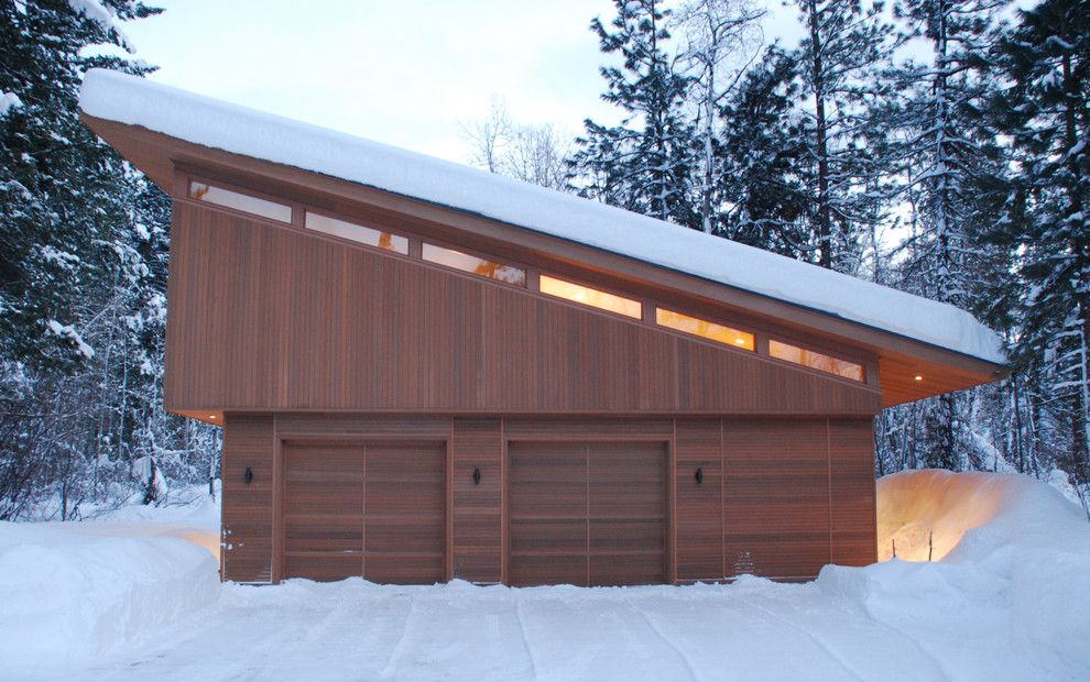 Aia Seattle for a Modern Garage with a Clerestory Windows and Mazama Guest Cabin by Finne Architects