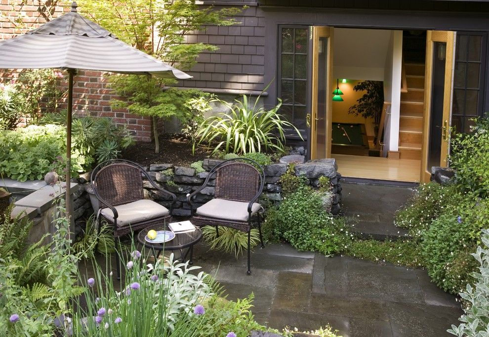 Aia Seattle for a Traditional Patio with a Pavers and Capitol Hill Renovation by Laurie Carron Architect, Aia I Leed Ga