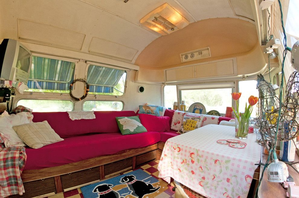 Airstream Renovation for a Eclectic Dining Room with a Eclectic and the Salsa House by Louise Lakier
