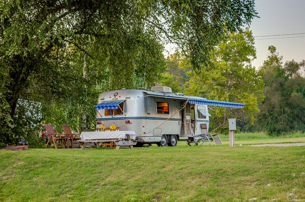 Airstream Renovation for a Eclectic Exterior with a Camper and '72 Avion Camper Renovation by William Johnson Architect