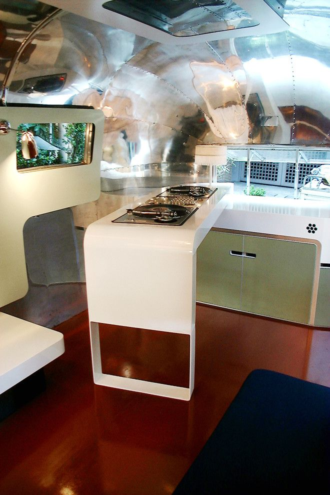 Airstream Renovation for a Modern Kitchen with a Modern and Airstream by Christopher C. Deam   Design and Architecture