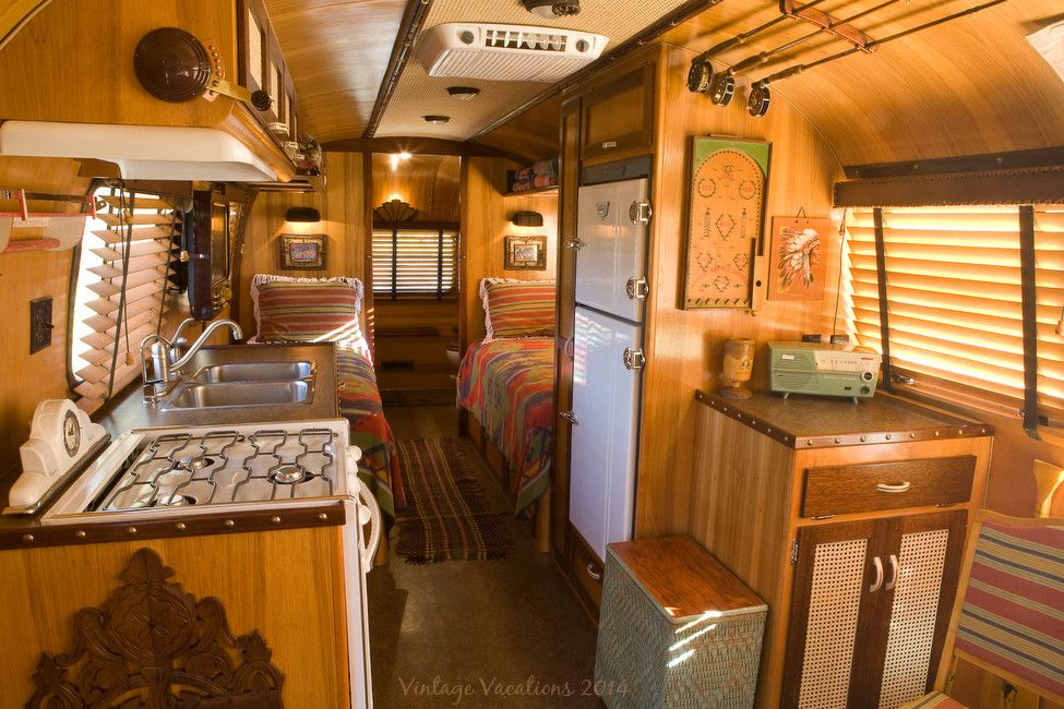 Airstream Renovation for a Rustic Spaces with a Cabin and 1977 Adirondack Airstream Restoration by Classic Airstream Restorations by Craig Dorsey