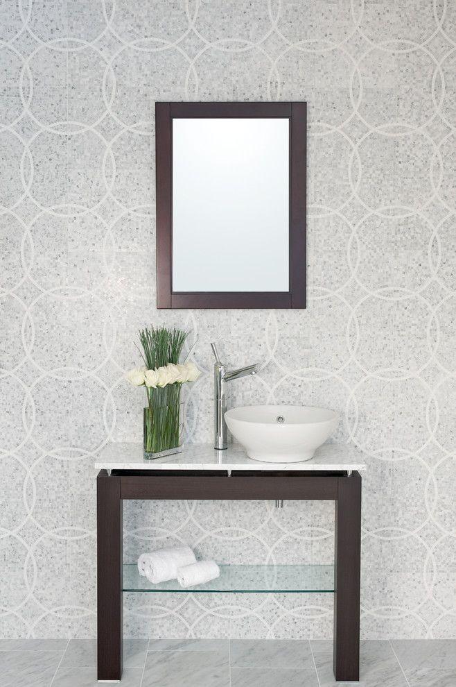 Akdo for a Contemporary Bathroom with a Natural Stone and Akdo by Akdo