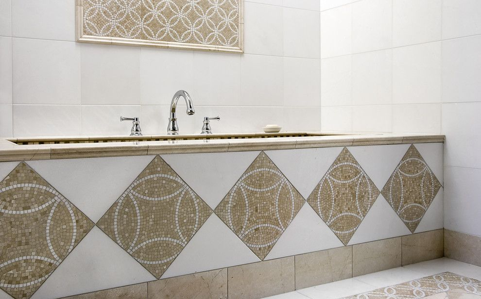 Akdo for a Contemporary Bathroom with a White and Eternity by AKDO