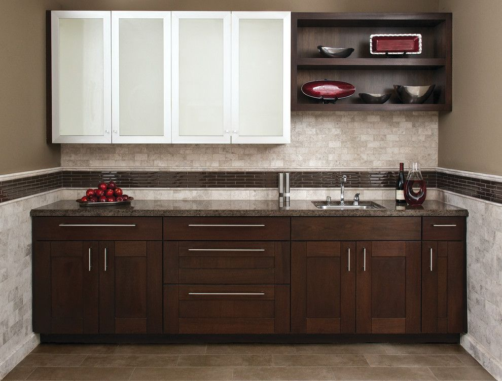 Akdo for a Contemporary Kitchen with a Glass Mosaics and Akdo by Akdo