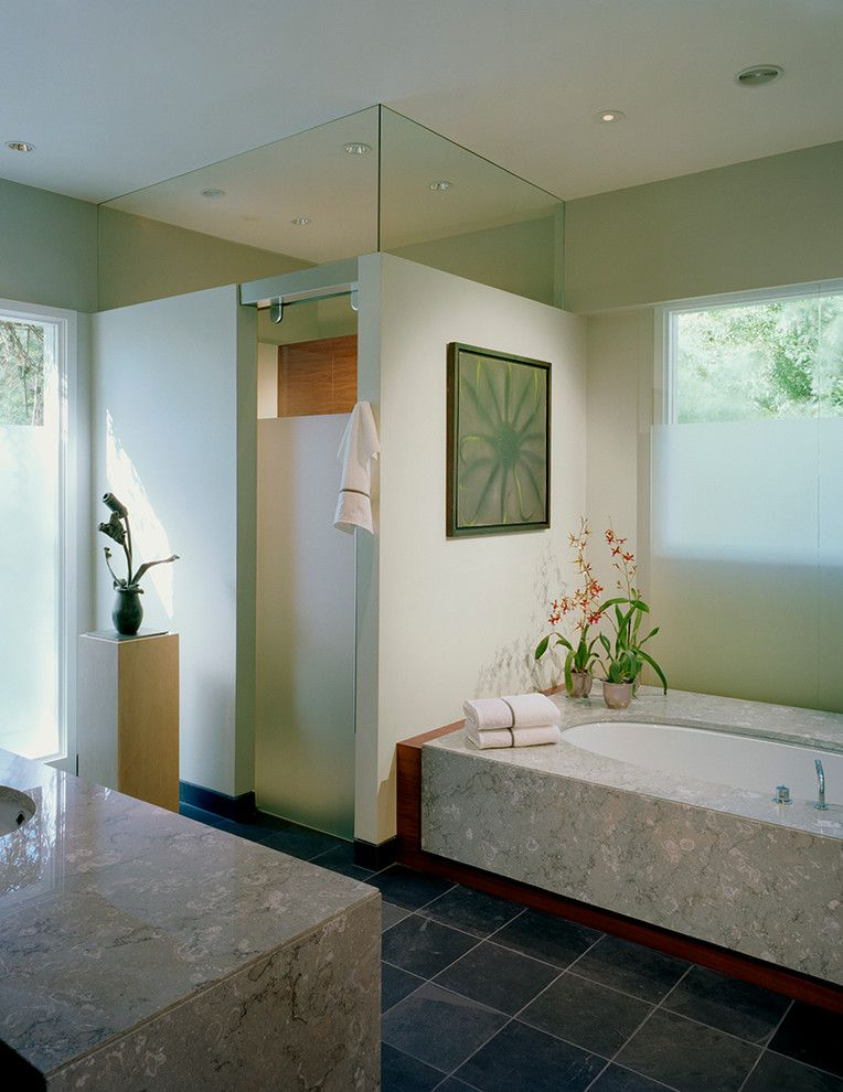 Aker Tubs for a Contemporary Bathroom with a Contemporary Design and Hedwig Master Bath Remodeling by Shane Cook Designs