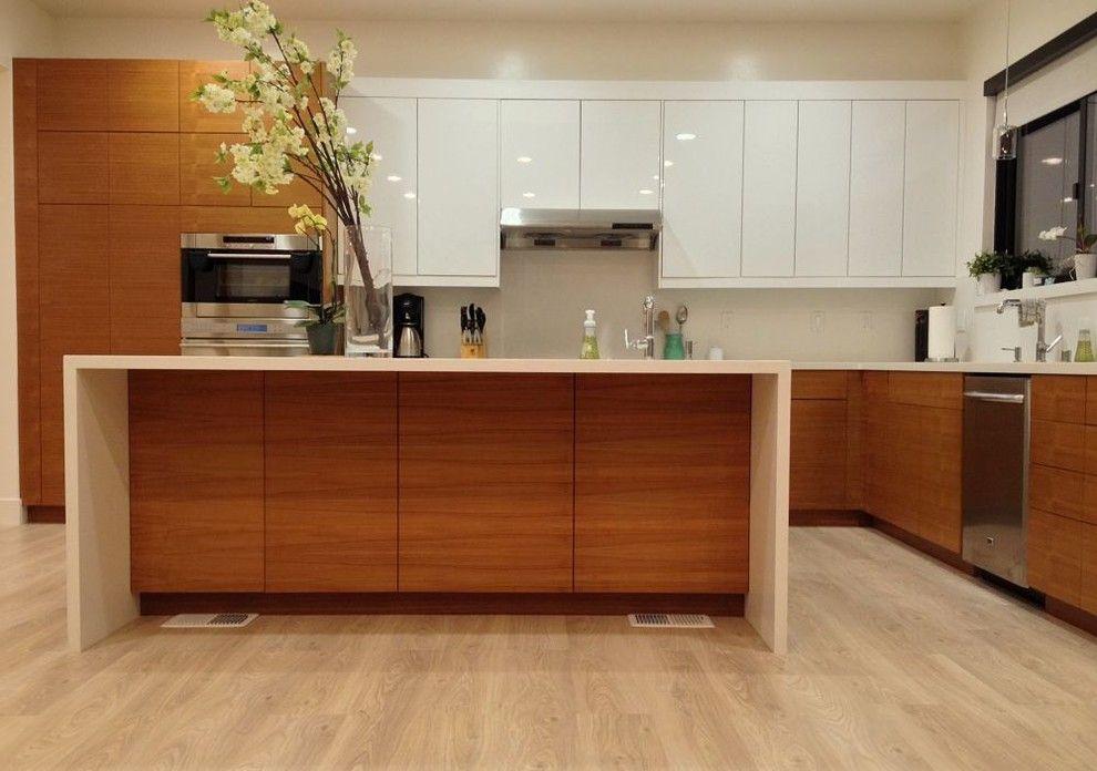 Akurum for a Contemporary Kitchen with a Semihandmade Ikea and Teak Ikea Kitchen by Semihandmade