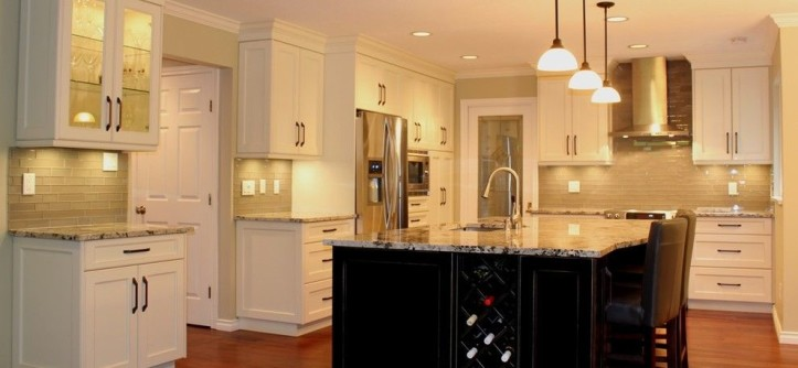 Alaska White Granite for a Traditional Kitchen with a Alaskan White Granite Countertops and North Vancouver Kitchen Renovations by Cornerstone Kitchens & Design Ltd