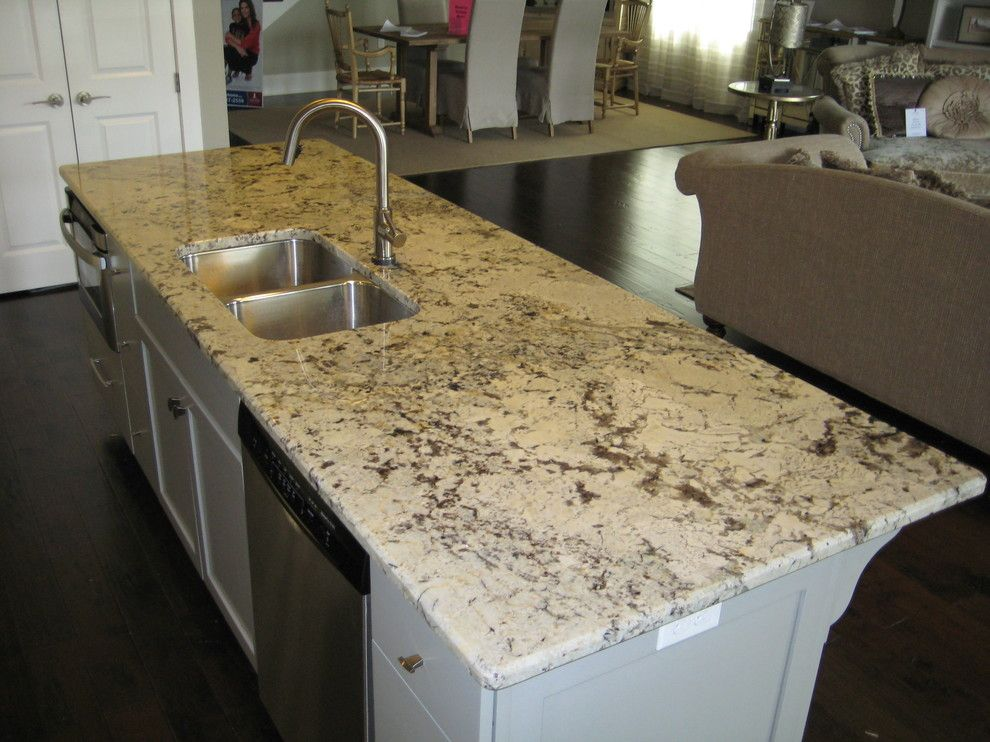 Alaska White Granite for a Traditional Kitchen with a Kitchen and Kitchen: Alaska White Granite by Labruyere Stone