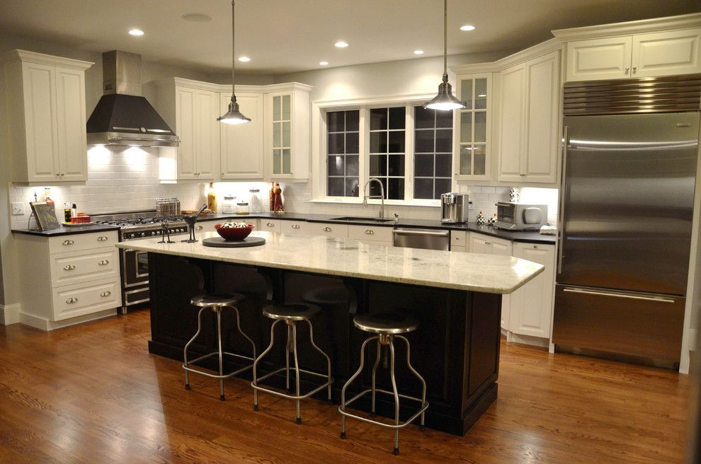 Alaskan White Granite for a Traditional Kitchen with a Traditional and Our  Kitchen by Karen Heffernan