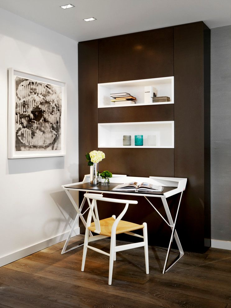 Alphera Financial Services for a Contemporary Home Office with a Desk and Fisher Island by Associated Design Co