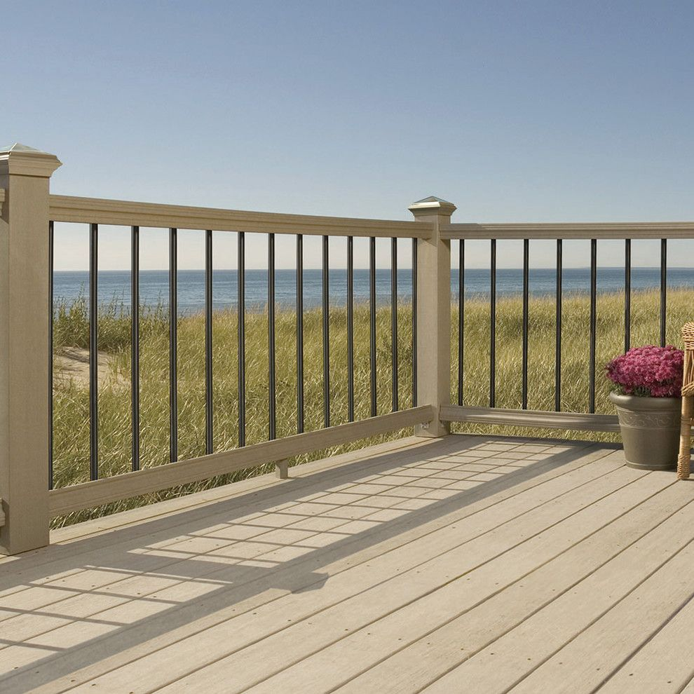 Alpine Fence for a Contemporary Deck with a Contemporary and the Home Depot Decks and Fences by the Home Depot