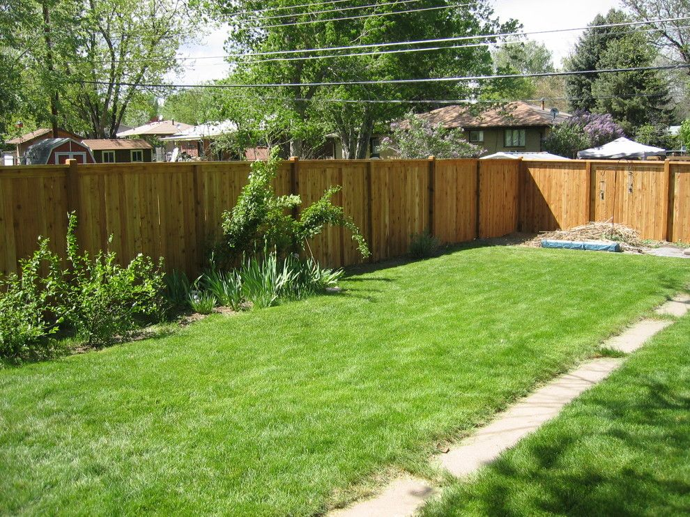Alpine Fence for a Traditional Landscape with a Privacy Fence and Flat Top W/ Exposed Posts by Alpine Fence of Colorado, LLC