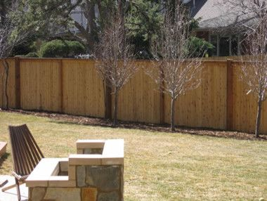 Alpine Fence for a Traditional Landscape with a Wood Fence and Flat Top W/ Exposed Posts by Alpine Fence of Colorado, Llc
