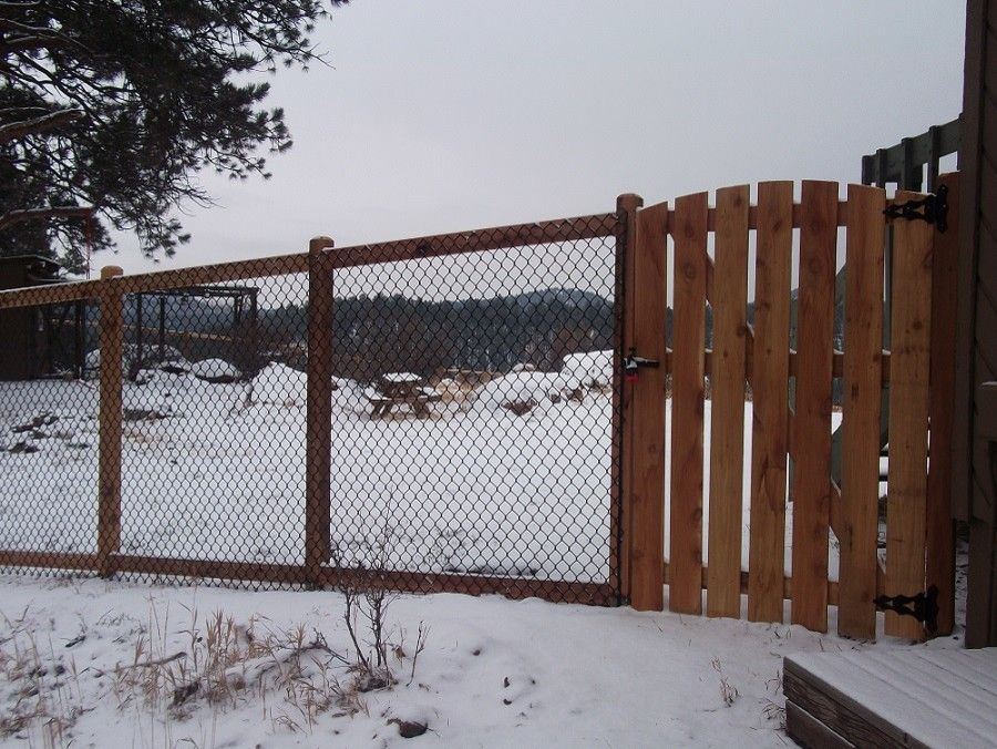 Alpine Fence for a Traditional Spaces with a Fence and Kittridge Mountain Top Dog Run by Alpine Fence of Colorado, Llc