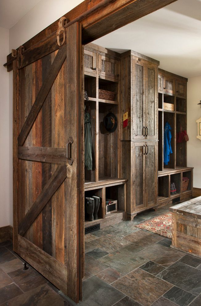 Altius for a Rustic Entry with a Modern Cabin and Big Mountain Rustic Residence by Altius Design Group