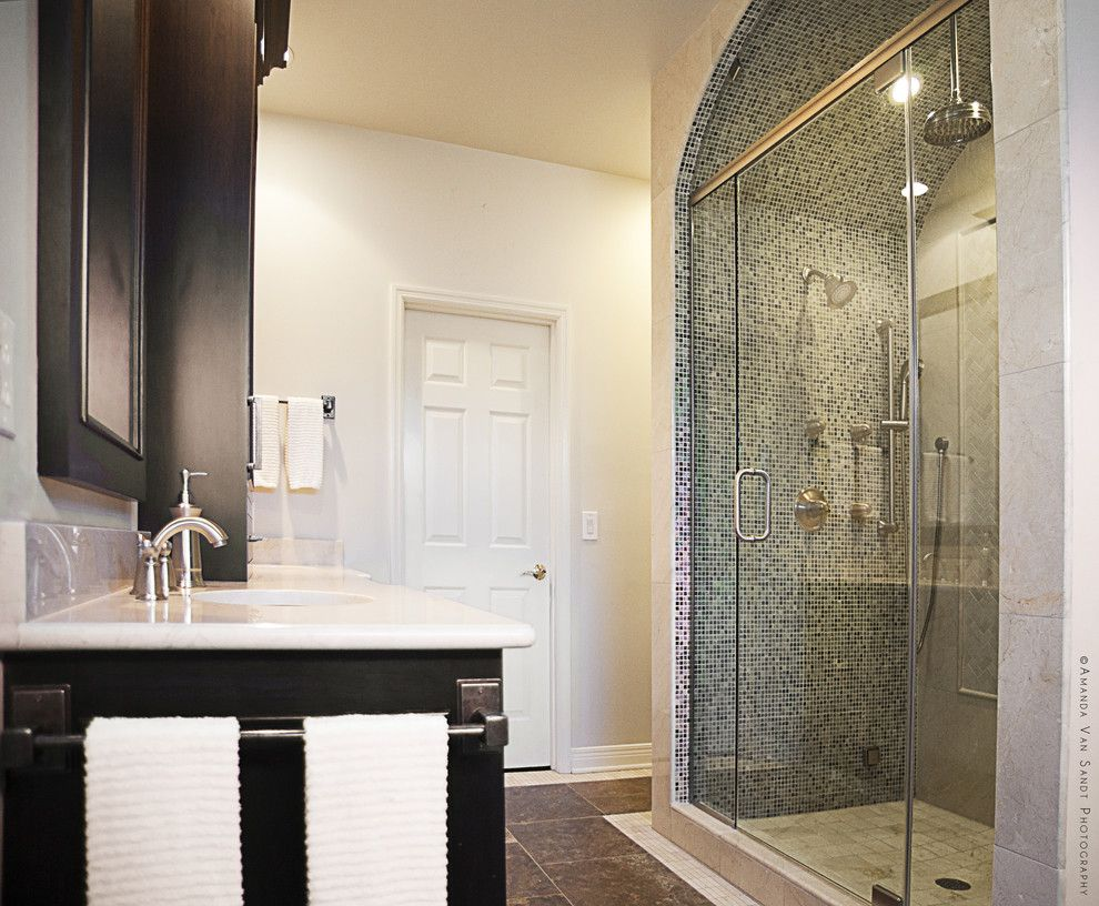 Alumax for a Contemporary Bathroom with a Shower Fixtures and Jones Parkway   Brentwood, Tn by Cke Interior Design Llc