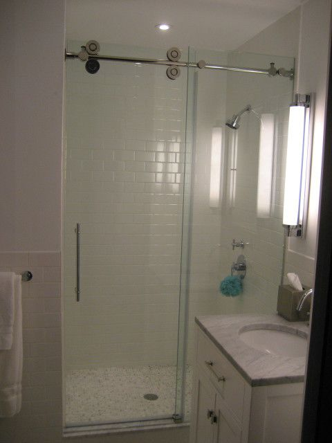 Alumax for a Traditional Bathroom with a Interior Design Details and Frameless Showers by Custom Glass & Design