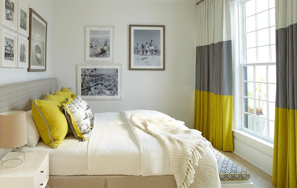 Alys Beach for a Beach Style Bedroom with a Window and Retro Beach House in Alys Beach, Florida by Musso Design Group