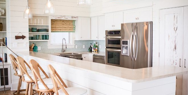 Alys Beach for a Beach Style Kitchen with a Stainless Appliances and Alys Beach by Ashley Gilbreath Interior Design