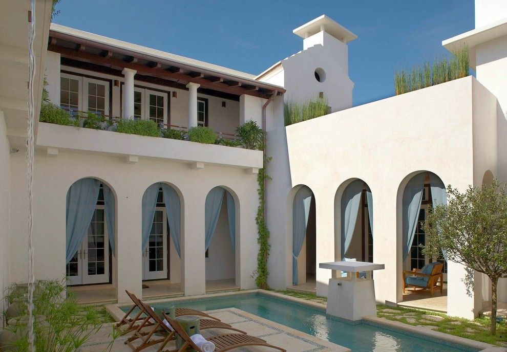 Alys Beach for a Mediterranean Patio with a Pavers and Alys Beach Residence by Artisan of Seagrove