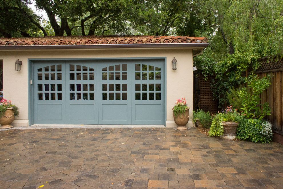 Amarr Garage Doors for a Mediterranean Garage with a Shrubs and Gamble Garden Spring Tour 2014: Hamilton by Hoi Ning Wong