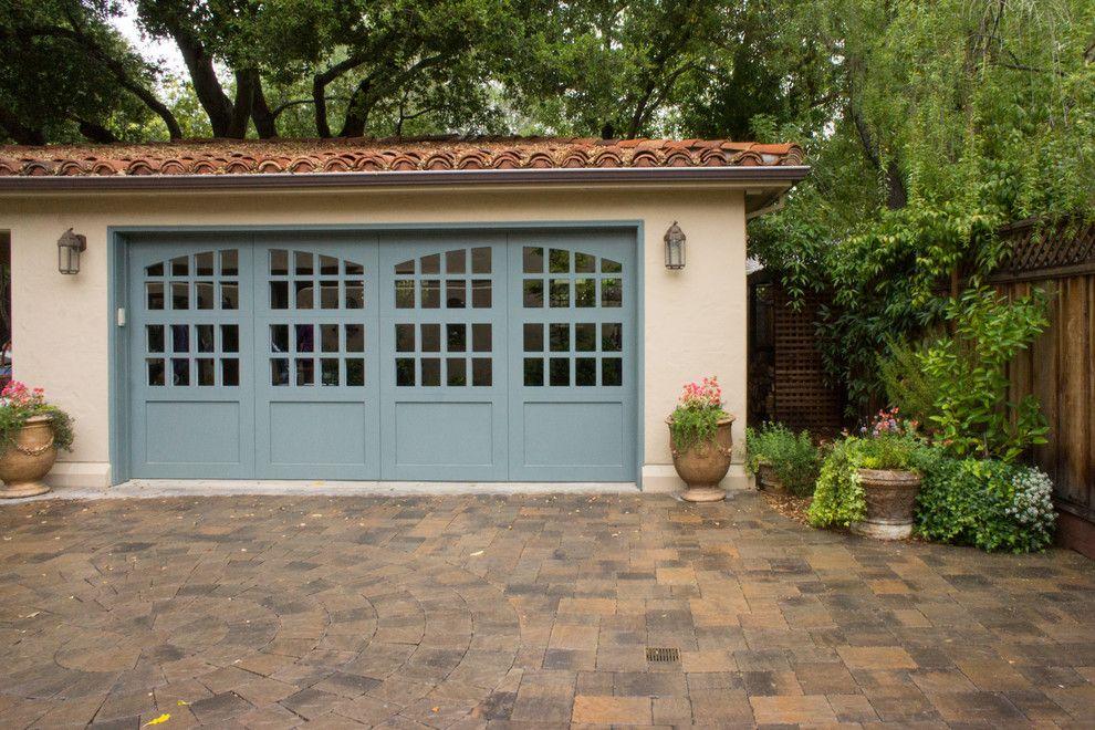 Amarr Garage Doors for a Mediterranean Garage with a Shrubs and Gamble Garden Spring Tour 2014: Hamilton by Hoi Ning Wong