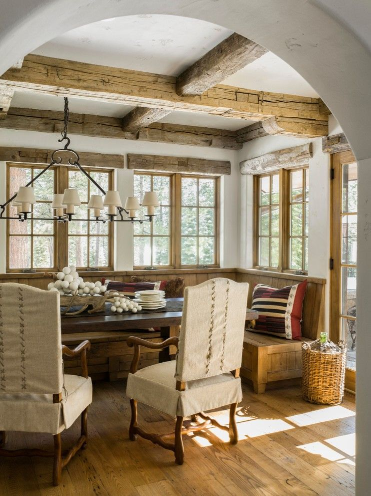 Ambella Home for a Rustic Dining Room with a Ski and Photographer: Ski Homes by David  Duncan Livingston