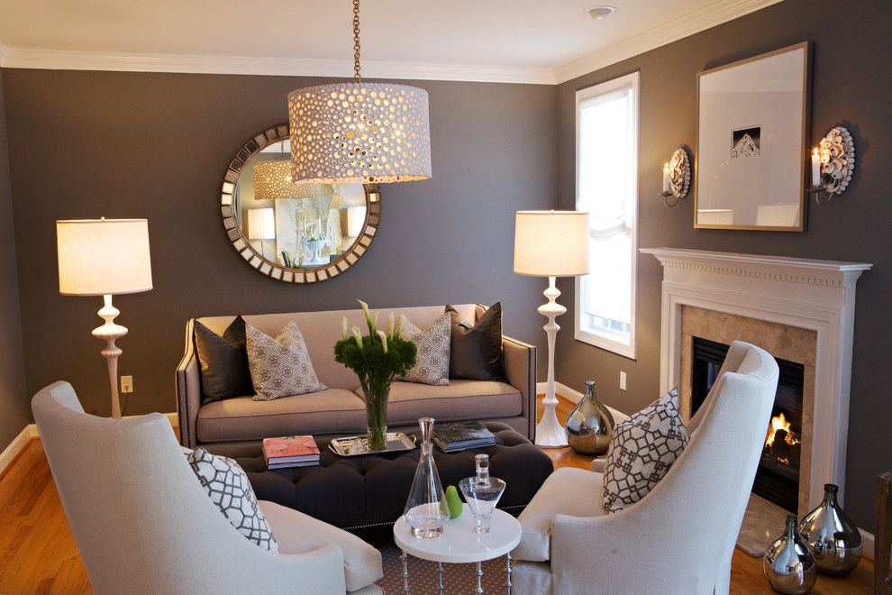 Ambiente Furniture for a Traditional Living Room with a Neutral Colors and Heather Garrett Design by Heather Garrett Design