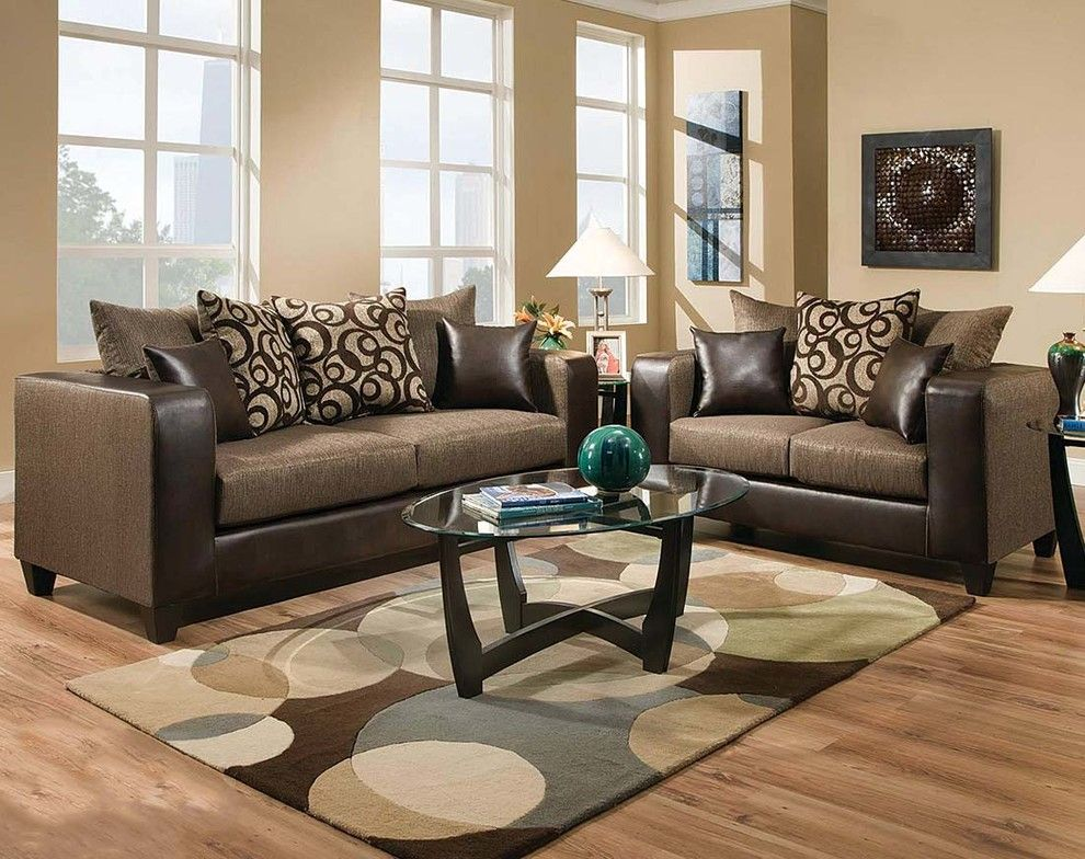 American Freight Furniture and Mattress for a Contemporary Living Room with a Brown and Object Espresso Sofa & Loveseat by American Freight Furniture and Mattress
