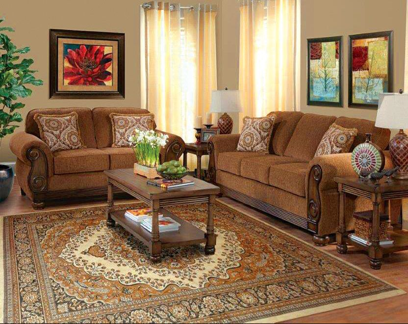 American Freight Furniture and Mattress for a Traditional Living Room with a Brown Sofa and Love Seat and Pick Pocket Brazil Sofa & Loveseat by American Freight Furniture and Mattress