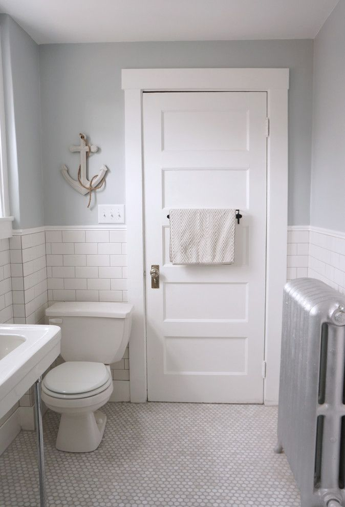 American Olean for a Craftsman Bathroom with a Bathroom and Craftsman Bungalow by Copper Dot Interiors