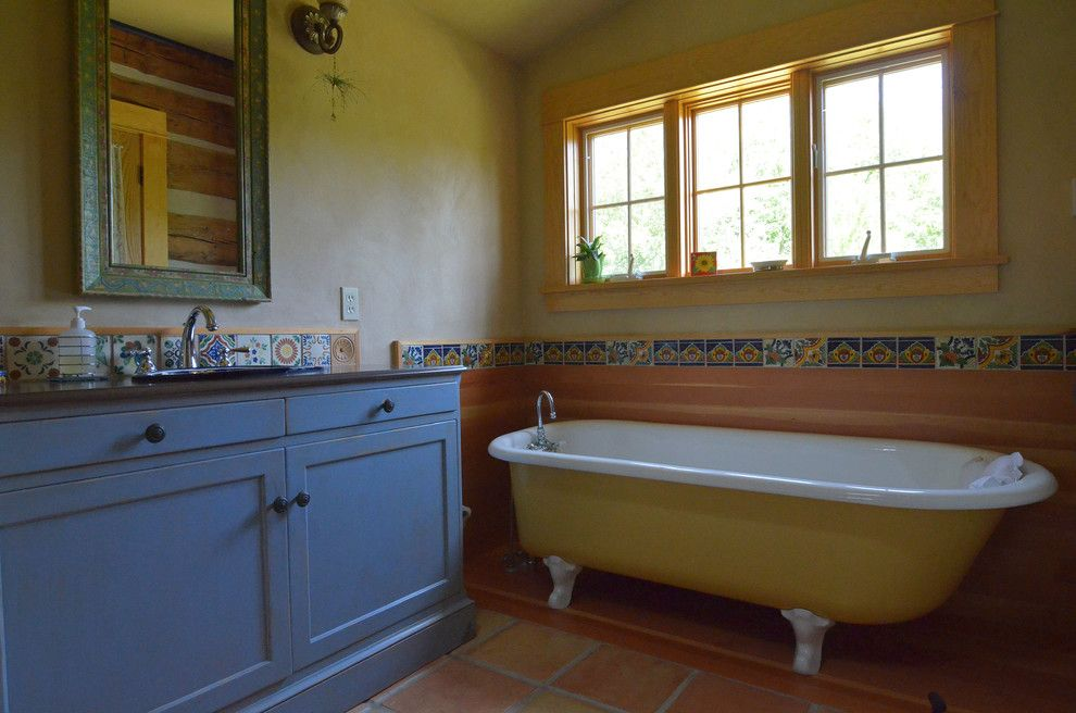 American Southwest Mortgage for a Rustic Bathroom with a Southwest and Half Way, Or: Pat & Patti Walker by Sarah Greenman