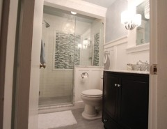 Anatolia Tile for a Traditional Bathroom with a American Standard and Reading Bathroom Remodel by Essence Design Studios